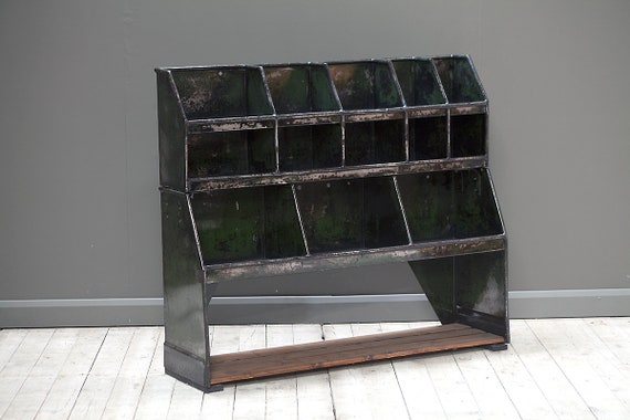 Vintage industrial pigeon hole workshop storage unit for hallway storage. MAKE AN OFFER. Guide price only.