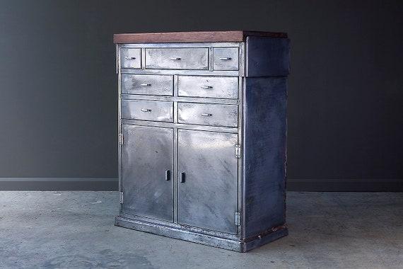 1950's industrial steel cabinet