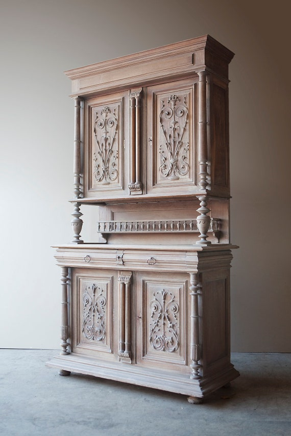 Dresser - Buffet Deux Corps. Bleached, 19th century Napolean lll . MAKE AN OFFER. Guide price only.