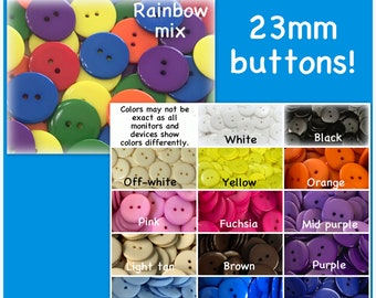 """15mm Craft 102 Lot of 20 RAINBOW SPIRAL 2-hole White Wood Buttons 5//8/"""""""
