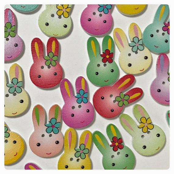 Purple Bunny Rabbit Novelty Buttons Sew​ing Crafts Card Making Hair Clip 1//2/""