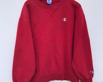c95d42d3800b Champion Sweatshirt Vintage Champion Sweater 90s Champion Windbreaker  Pullover Hip Hop fit sz S