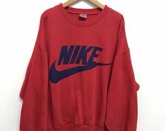 d3815980da Vintage 90 s NIKE Sweatshirt Jacket Nike Big Logo Swoosh Streetwear Usa  Sportswear Nike Windbreaker Hip hop Jacket sz M