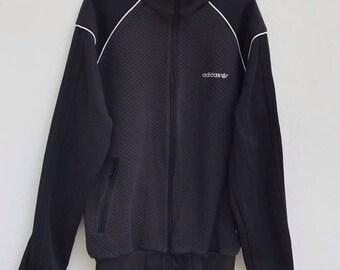 90s ADIDAS Treefoil Big Logo Long Jacket Fleece Lining. Size