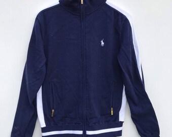 37cbdfa9d Polo Ralph Lauren Sweater Sweatshirt Vintage Polo Zipper jacket Polo Sport  jacket Polo Bear sz XS