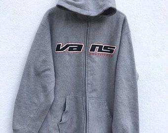 5fbaca4c1b Vans Sweatshirt Rare Vintage Vans Skate Sweater Hoodie Hip hop Jacket Vans  USA Surf Surfing Streetwear Skateboard sz M