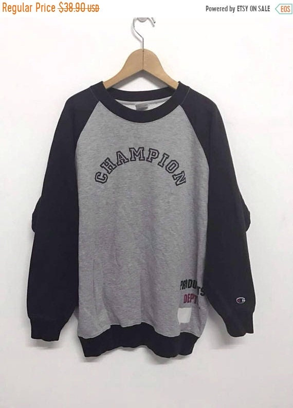 Vintage 90s Champion Sweatshirt Big Logo Streetwea