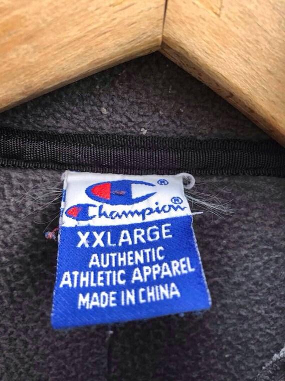 Champion Sweater Vintage Champion Fleece Jacket 9… - image 3