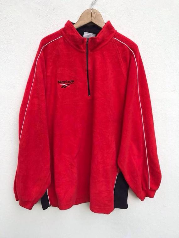cc5061e0113f0 Reebok Sweatshirt Vintage Reebok Fleece Jacket Reebok Pull   Etsy