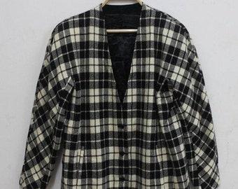 20% Off Vintage Kenzo Women Blazer Jacket Coat Kenzo Paris Fashion Designer Checked sz M