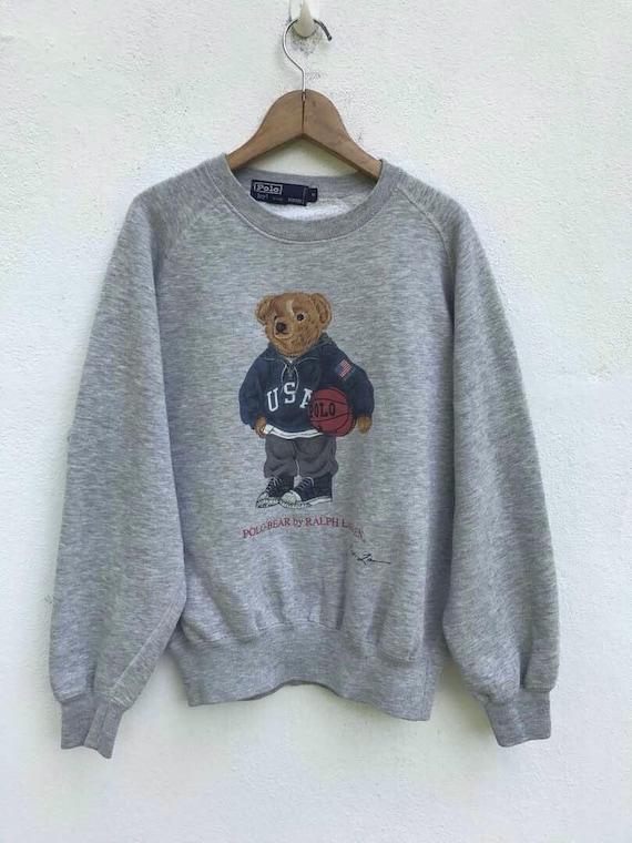 Jahrgang Polo Bär Sweatshirt RALPH LAUREN Pullover Polo Ralph Lauren Usa Polo Bär 1990er Jahre Pullover Bär Sweatshirt Pullover sz S