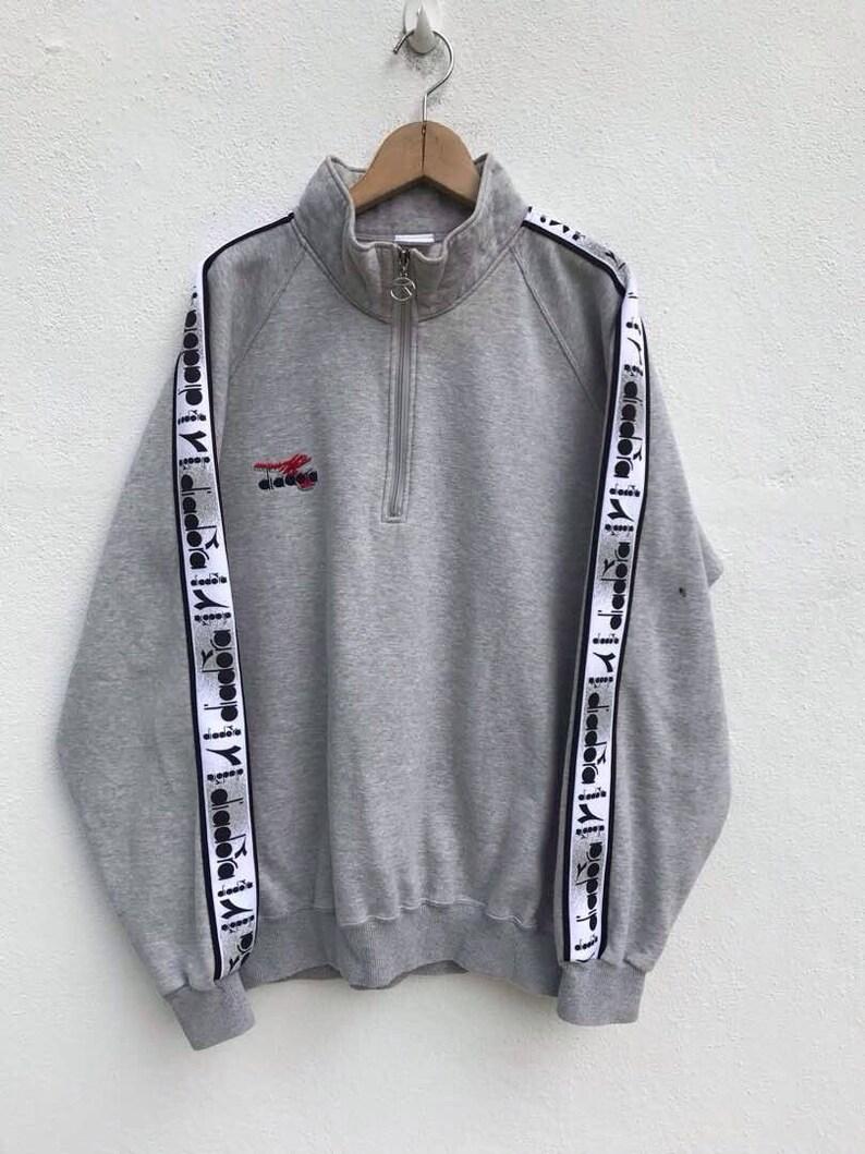 665ceaf4d8113 Vintage Diadora Sweatshirt Sweater 90's Big Logo Hip Hop Diadora Italy  Sweater Big Logo Diadora Windbreaker Large