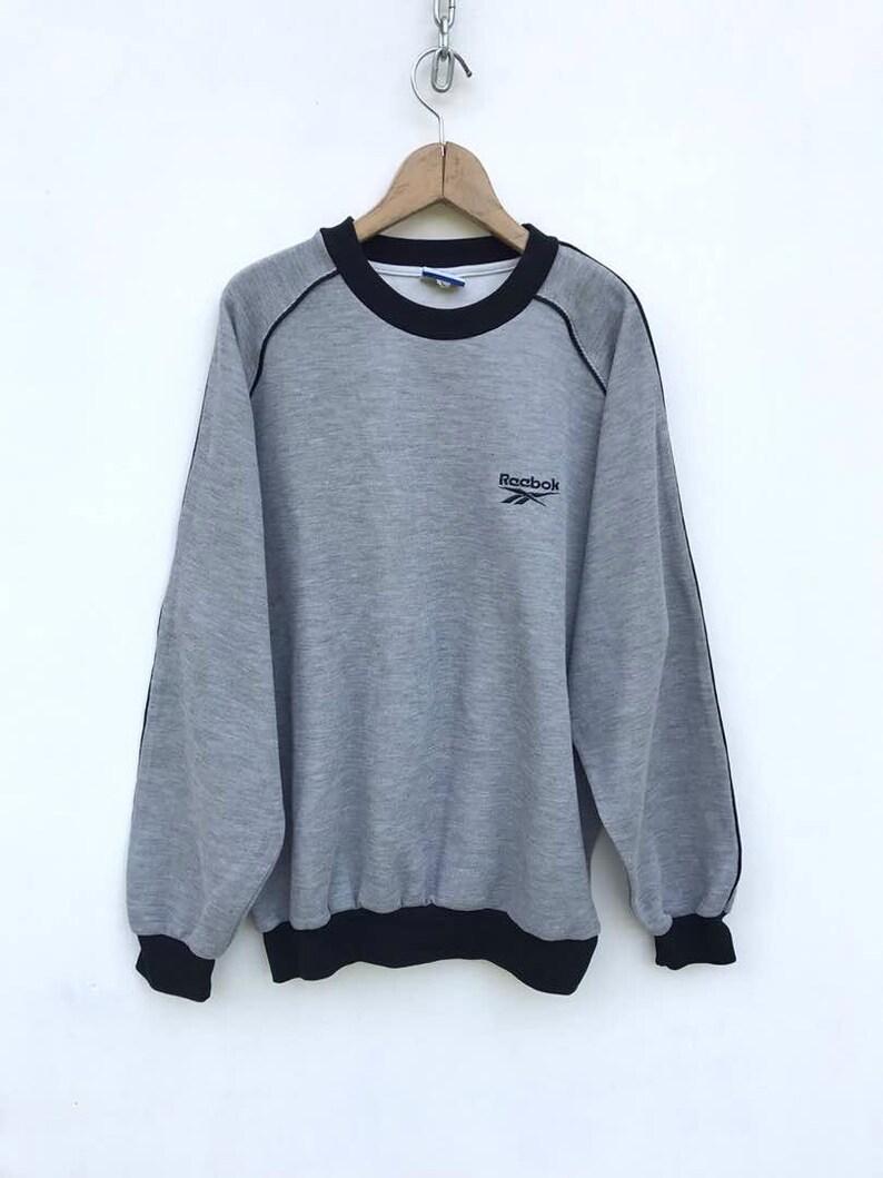 0f6dd00e97880 Reebok Sweatshirt Vintage Reebok Sweatshirt Reebok Pullover Big Logo Hip  hop Sweater Vintage Reebok Shirt sz L