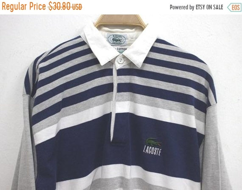 fb4ae19f9d3 20% Off Vintage Izod Lacoste Polo Shirt Longsleeve Lacoste | Etsy