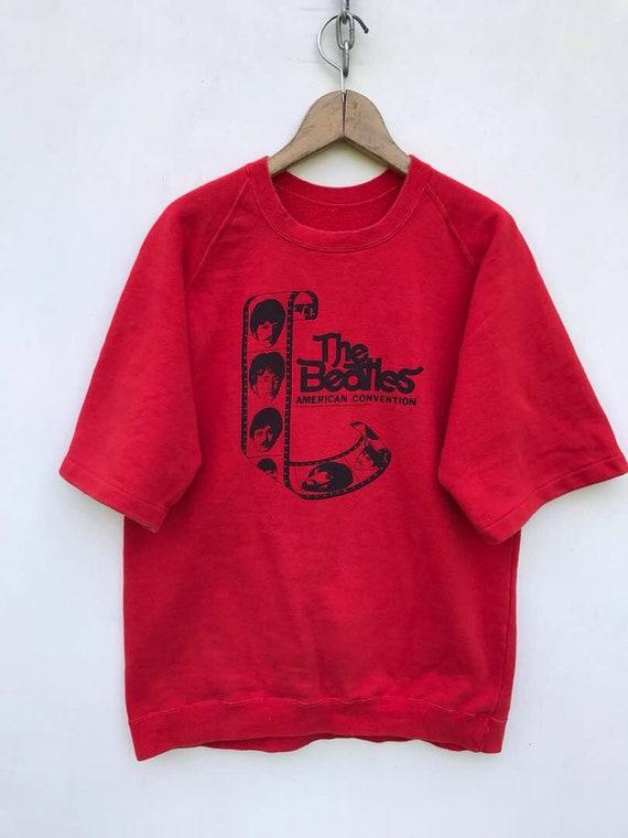Vintage The Beatles Sweatshirt Red Small Beatles S