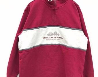 20% Off Vintage ELLESSE Sweatshirt 90's Hip Hop Rap Ellesse Sweater Streetwear Sweater Big Logo Hip Hop Sweatshirt Jacket sz M