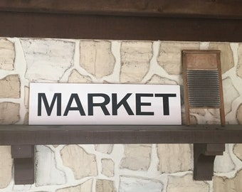 Market sign | Flea Market Sign|  Farmer's Market Sign | White Farmhouse Sign | Large Farmhouse Sign | Custom