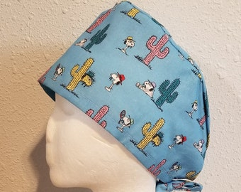Mask Easter Peanuts Surgical Scrub Hat or Set