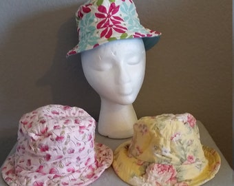 145e52f3132 3 to 6 months flower Toddler Bucket Hat  Floral Bucket hat  Flower  children s bucket hat  Child Bucket hat  Bucket hat