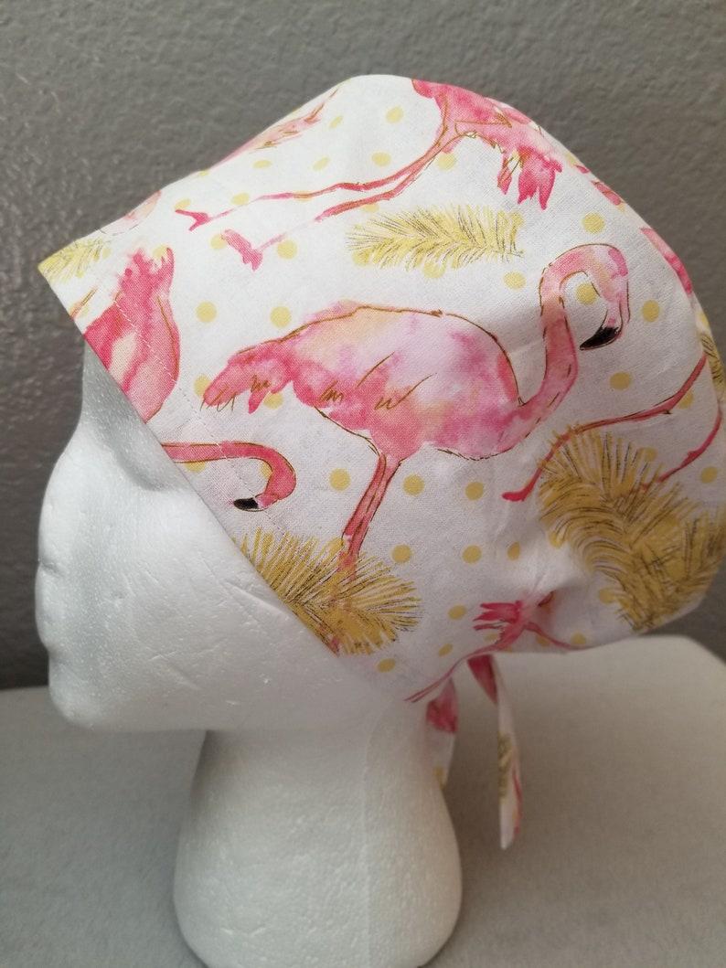 Flamingo Scrub Ht Flamingo Surgical Hat Flamingo Chmo hat Scrub Hat Surgical Hat Chemo hat Chef hat