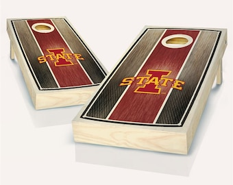Backyard Party Made in USA Iowa State I Red Matching Border Cornhole Boards Tailgate SALE