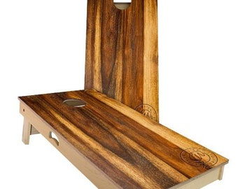 SALE - Treated Oak Cornhole Boards - The Perfect Gift for Christmas, Hanukkah, New Year's and More + FREE Shipping