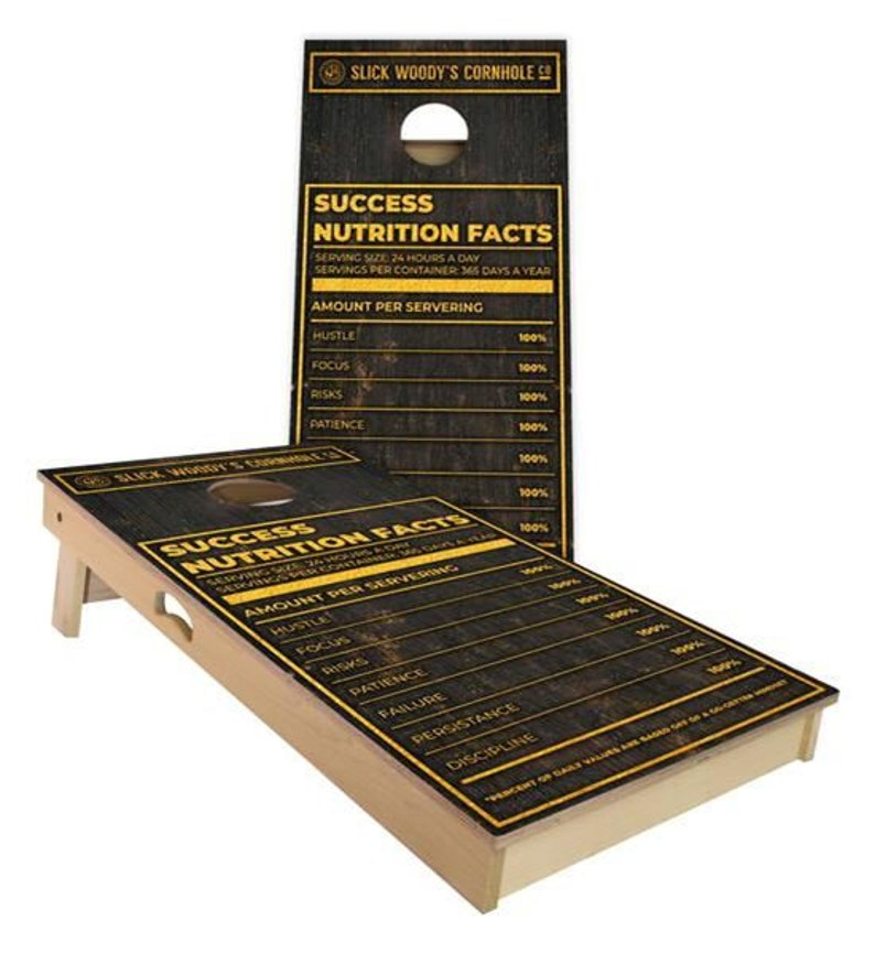 Birthday Handmade Great for Tailgates Made in USA College Success Nutrition Facts Cornhole Boards SALE Backyard Parties