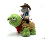 Sheriff Mouse and Turtle - amigurumi crochet pattern