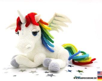 Rainbow unicorn crochet pattern amigurumi