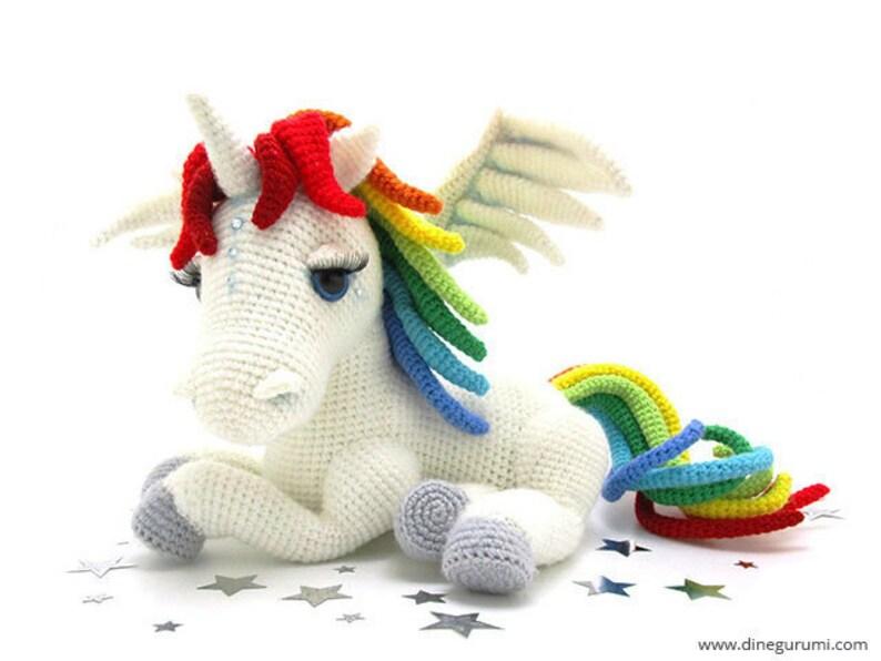 Rainbow Unicorn  amigurumi crochet pattern image 0