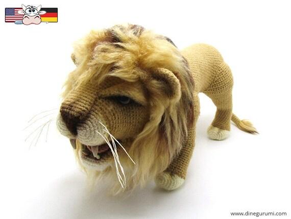 Löwe Amigurumi Häkelanleitung | Etsy