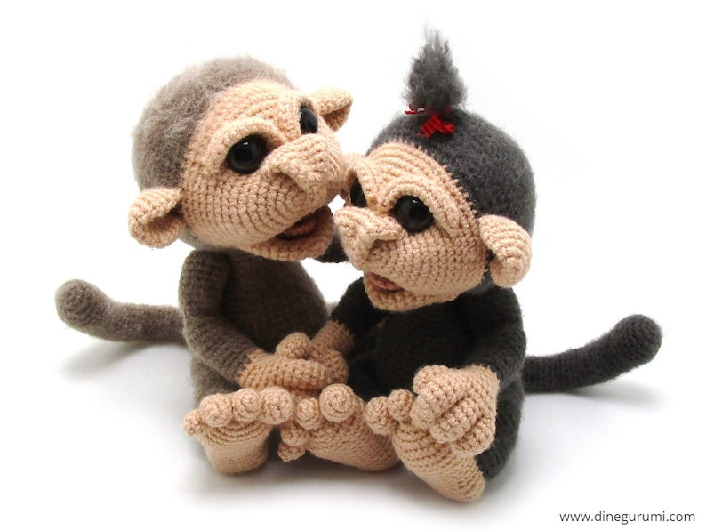amigurumi crochet pattern Little Monkeys