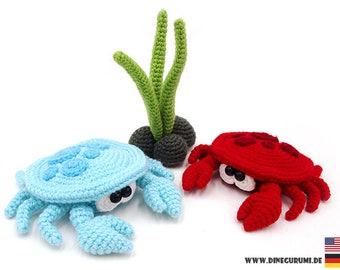 Small crab crochet pattern amigurumi