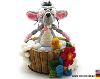 Water rat crochet pattern amigurumi