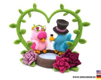 Bird wedding crochet pattern amigurumi