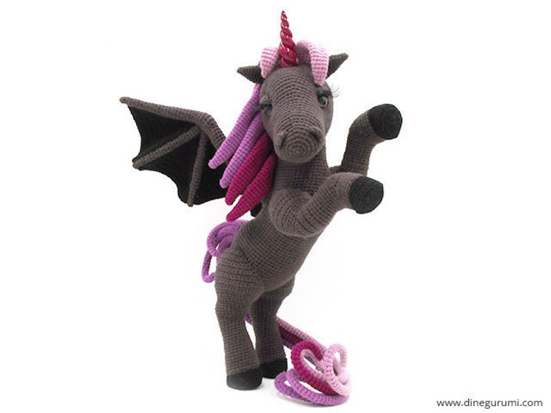 Dark Unicorn  amigurumi crochet pattern image 0