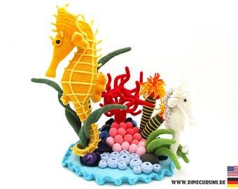 Seahorse crochet pattern amigurumi