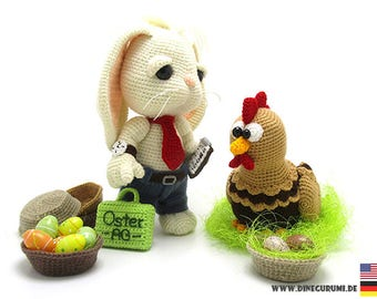 Easterbusiness crochet pattern amigurumi