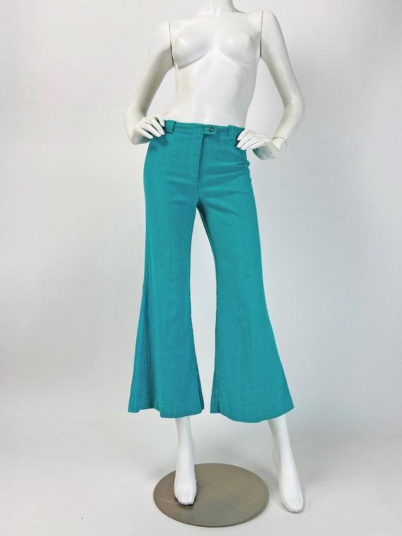 Vintage 70s Bell Bottoms, Hip Hugger Pants, Low Ri