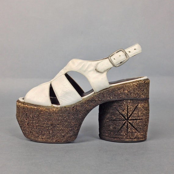 Vintage 70s Platform Sandals, Platform Shoes, Glam