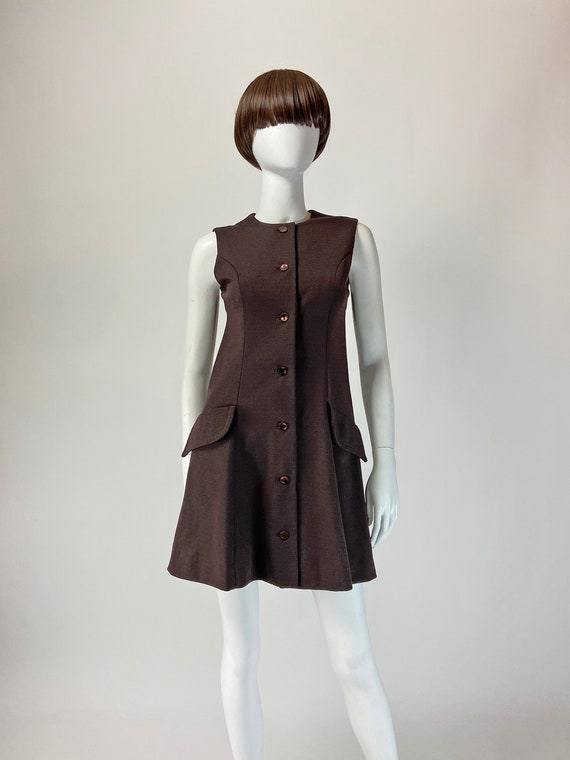 Vintage 60s Mod Mini Dress, 60s Mini Dress, Mad Me
