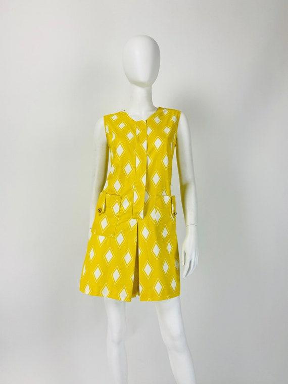 Vintage 60s Mod Scooter Dress, 60s Playsuit, 1960s