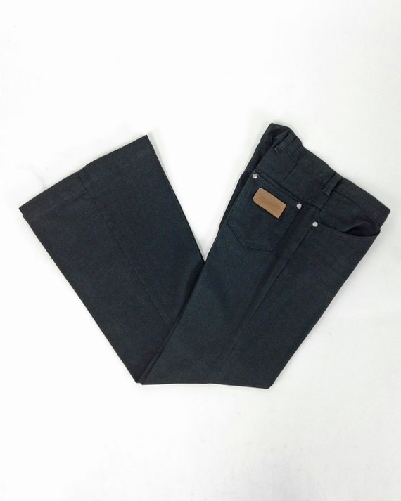 Vintage 70s Bell Bottom Wrangler Jeans, Low Rise B