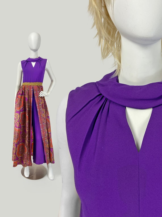 Vintage 60s Jumpsuit, Skirted Jumpsuit, PsYcHeDeLi