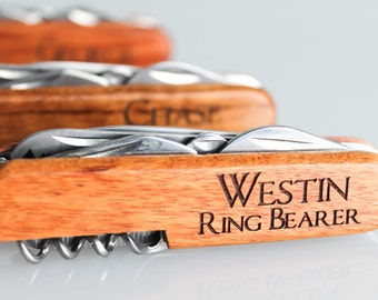 Ring Bearer Gift, Engraved Pocket Knives, Personalized Knife, Groomsmen Gift, Wedding Gift, Custom Pocket Knife