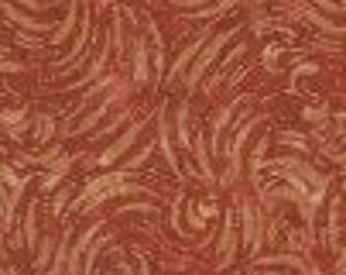 """Lightning A/O Rust  Batik from Wilmington Prints 22149-888 100% cotton 44/45"""" wide fabric"""