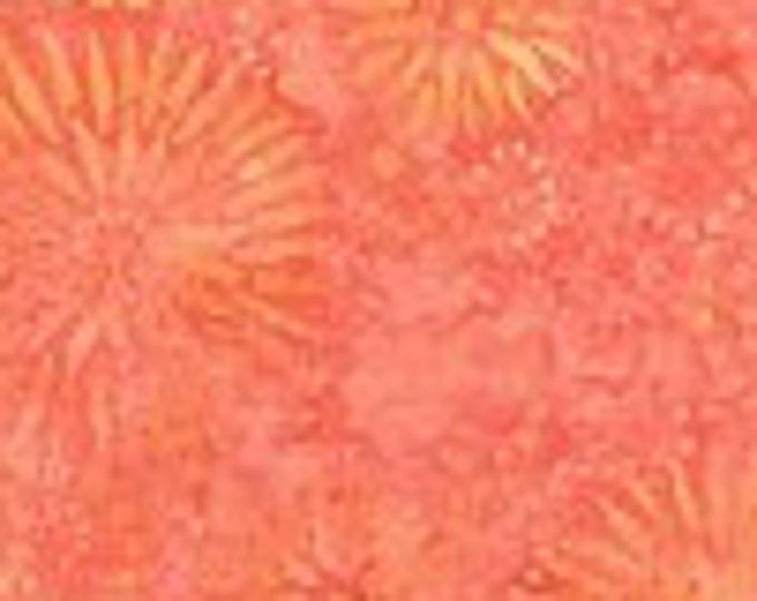 "Flower Burst Coral Batik from Wilmington Prints  22188-808   100% cotton 44/45"" wide fabric"