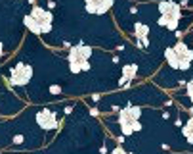 """Nature Study Blossoms  by Wilmington Prints  33824-491  44"""" wide 100% Cotton Fabric"""