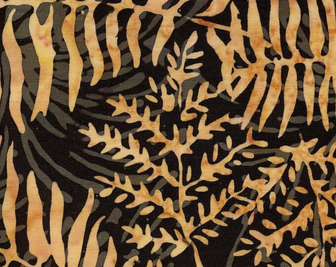 """Fern Leaf Smoke  by Island Batik 111809050   100% cotton 44/45"""" wide fabric"""