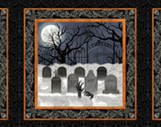 """Spooky Night by Wilmington Prints  24""""  6 Pane   Panel   44"""" wide  100% cotton (#11)"""